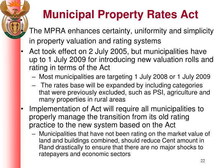Municipal Property Rates Act