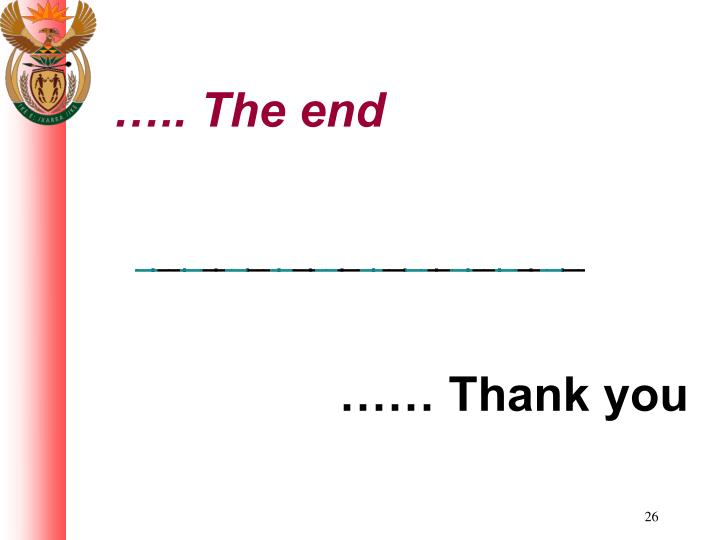 ….. The end