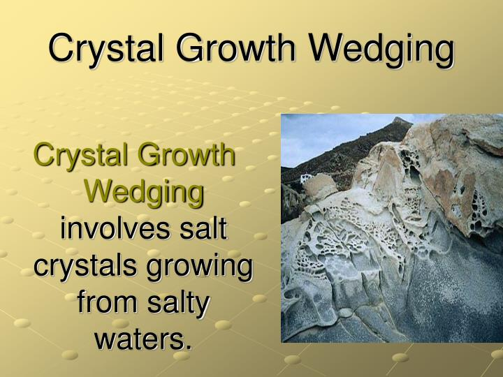 Crystal Growth Wedging
