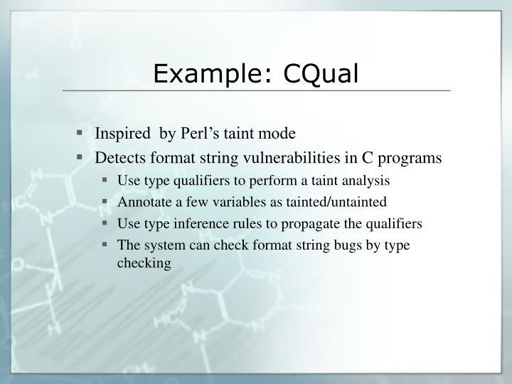 Example: CQual