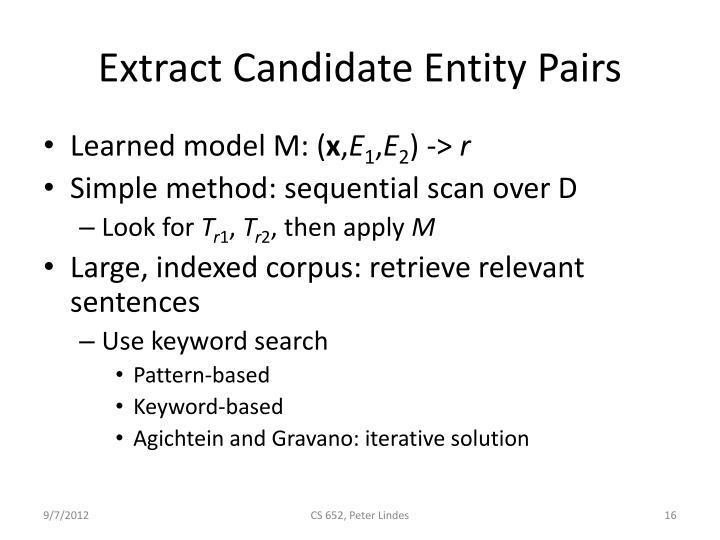 Extract Candidate Entity Pairs