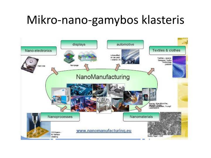 Mikro-nano-gamybos klasteris