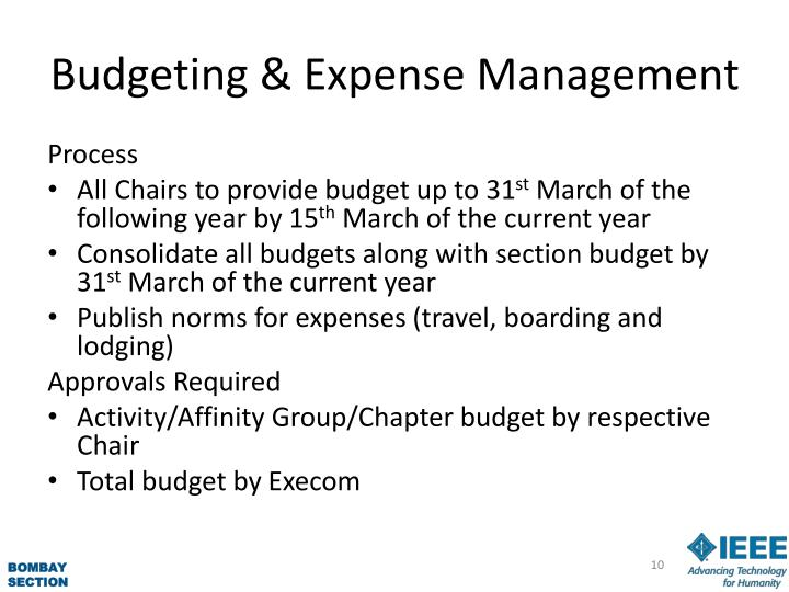 Budgeting & Expense Management