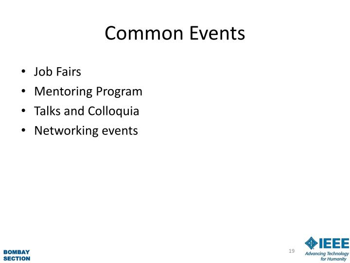 Common Events