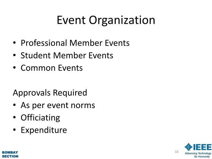 Event Organization
