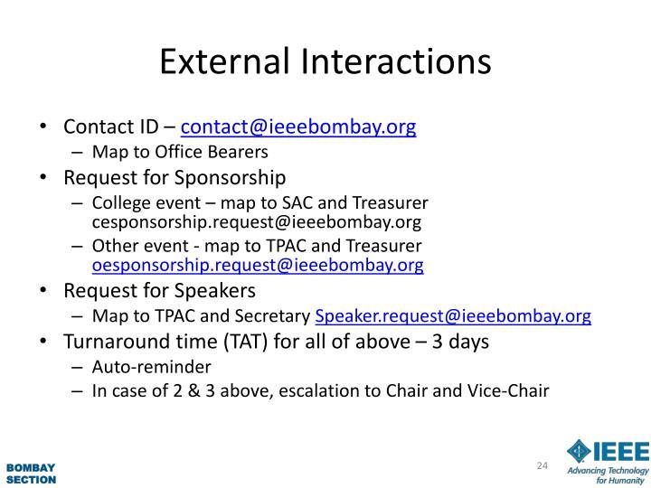 External Interactions