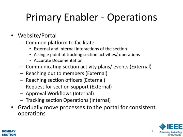 Primary Enabler -