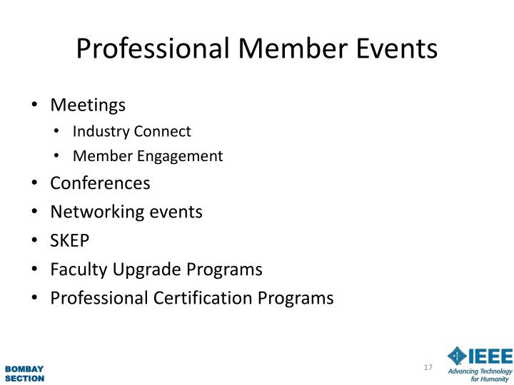 Professional Member Events