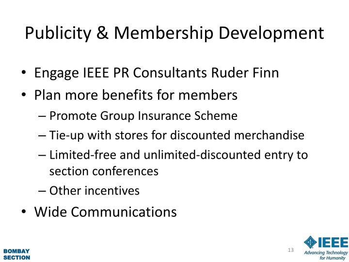 Publicity & Membership Development