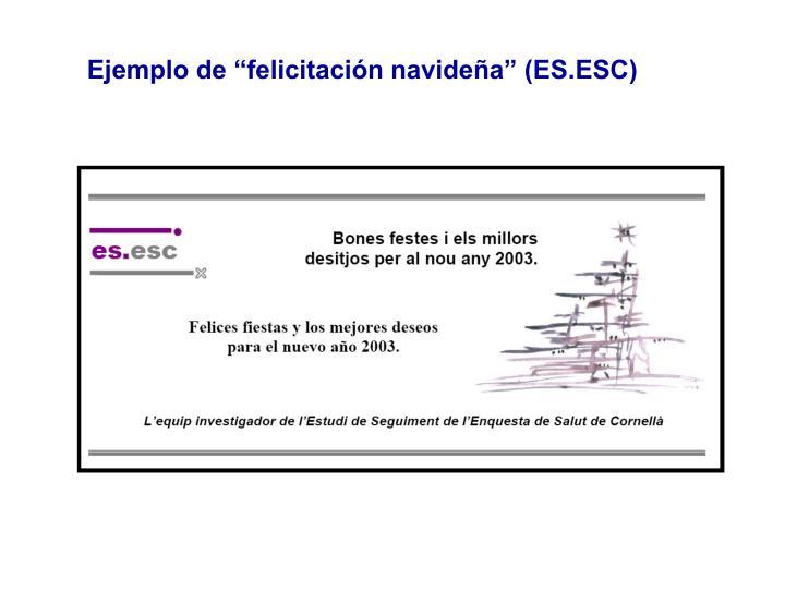 """Ejemplo de """"felicitación navideña"""" (ES.ESC)"""