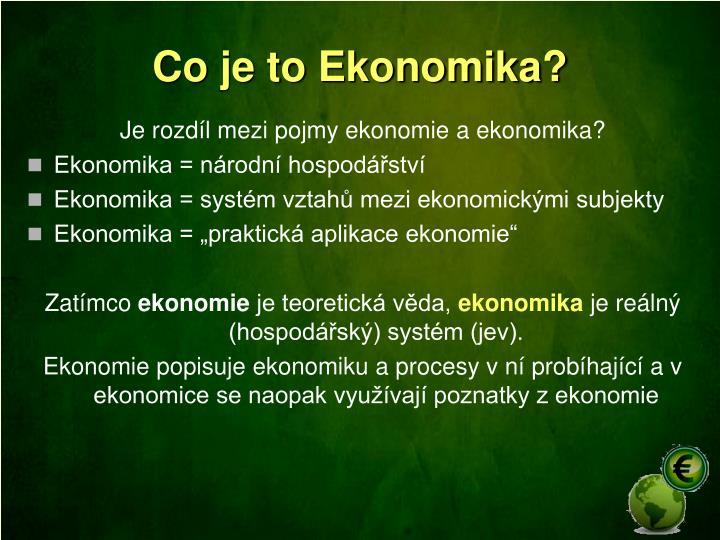 Co je to Ekonomika?