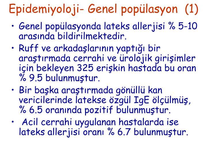 Epidemiyoloji- Genel popülasyon  (1)