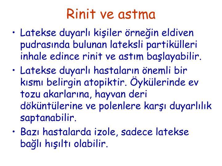 Rinit ve astma