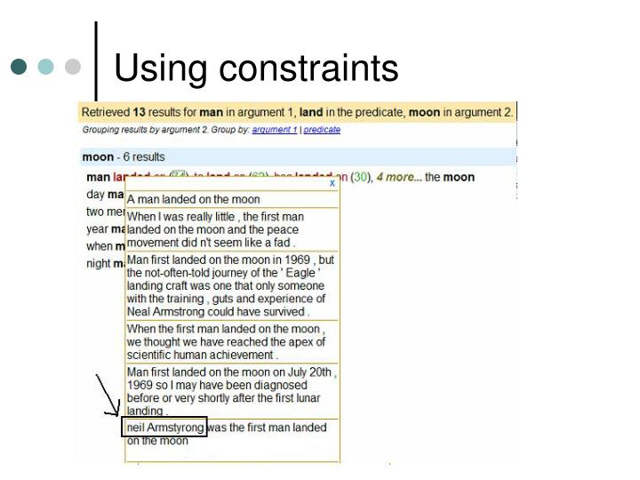 Using constraints