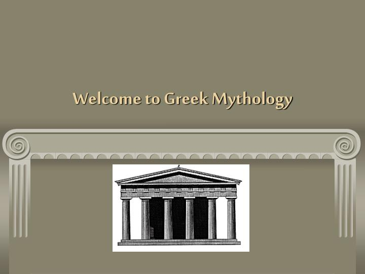 Welcome to greek mythology