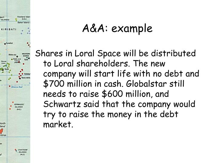 A&A: example