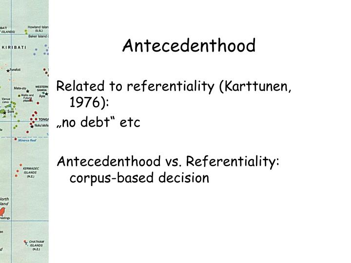 Antecedenthood