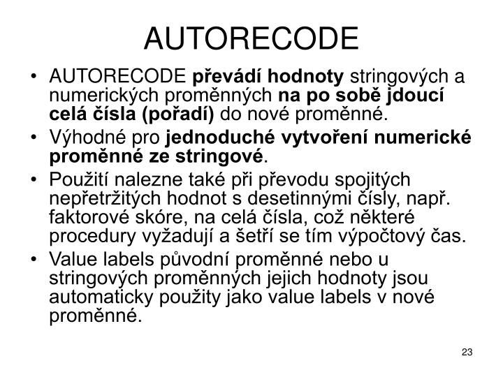 AUTORECODE