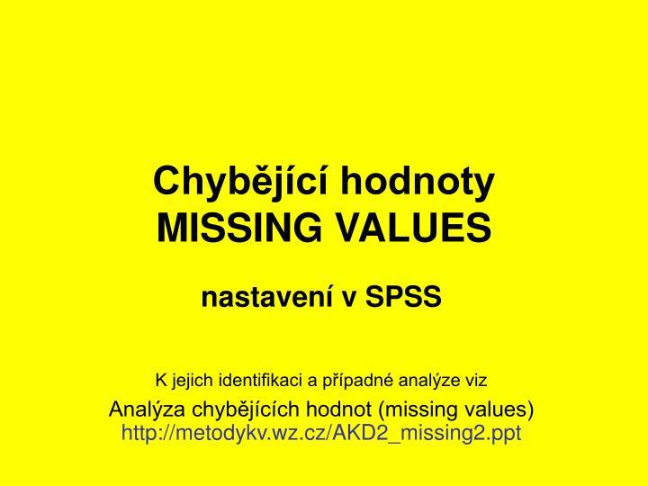Chybějící hodnoty