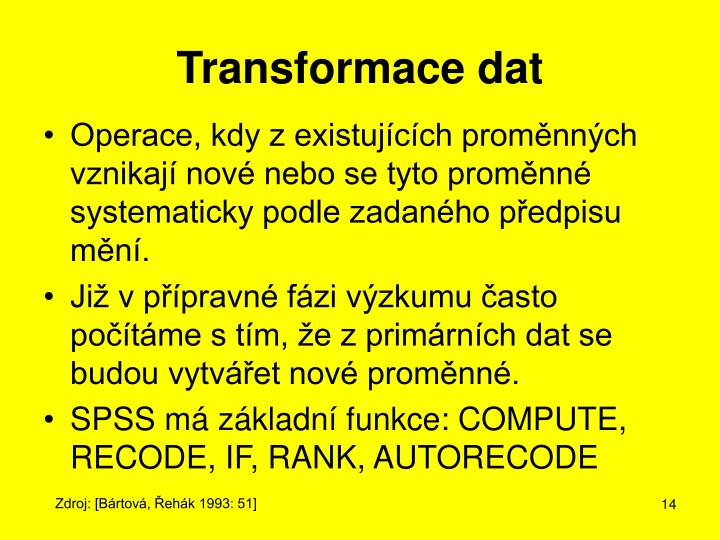 Transformace dat