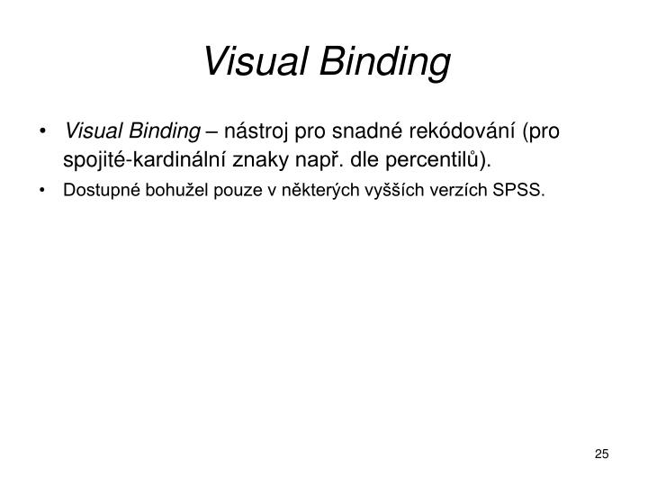 Visual Binding