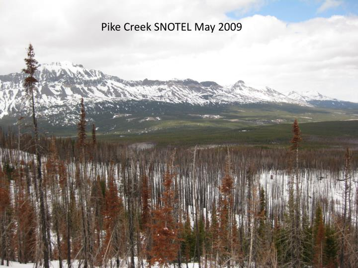 Pike Creek SNOTEL May 2009