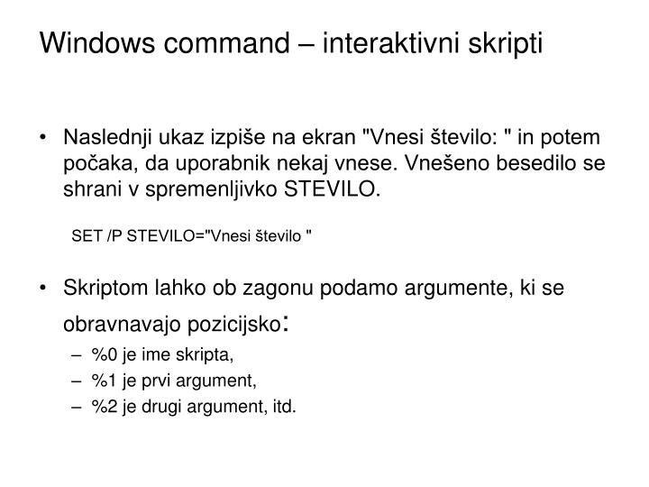 Windows command – interaktivni skripti