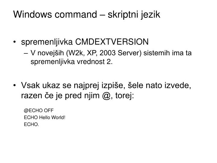 Windows command – skriptni jezik