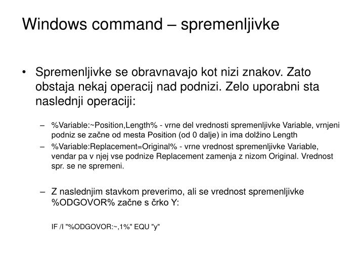 Windows command – spremenljivke