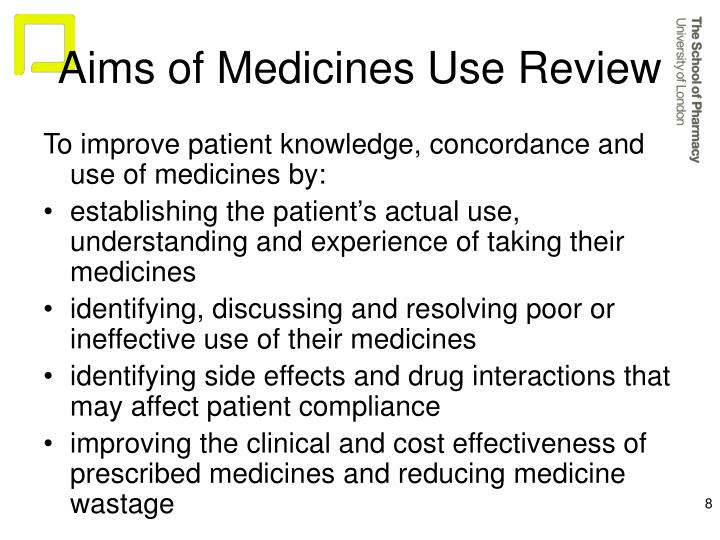 Aims of Medicines Use Review