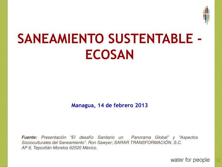 Saneamiento sustentable -