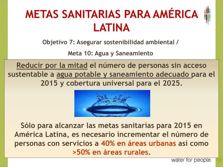 METAS SANITARIAS PARA AM