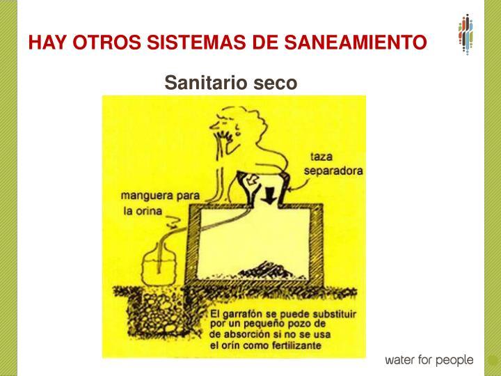 HAY OTROS SISTEMAS DE SANEAMIENTO