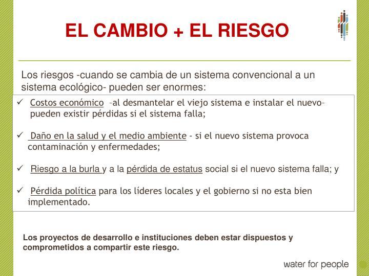 EL CAMBIO + EL RIESGO