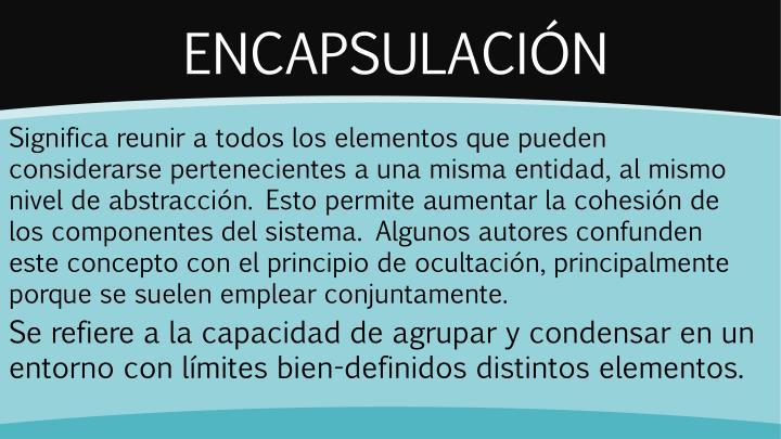 ENCAPSULACIÓN