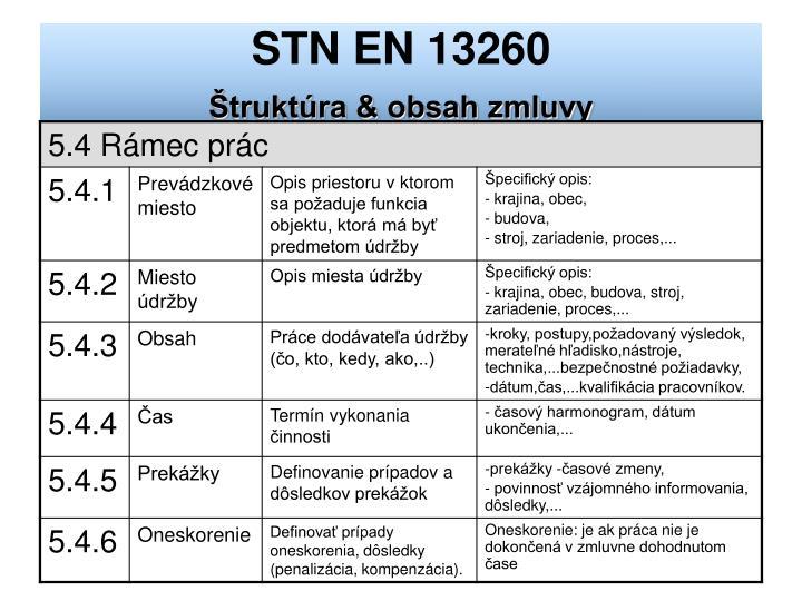 STN EN 13260