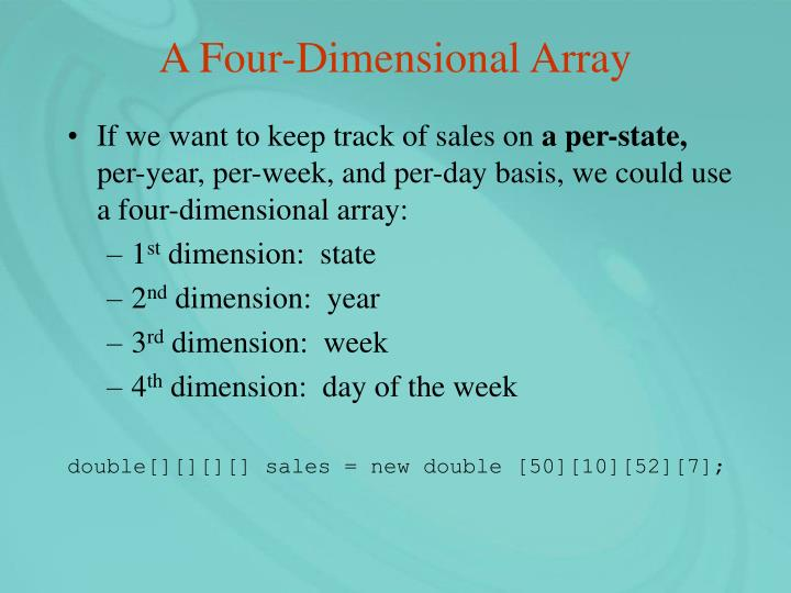 A Four-Dimensional Array