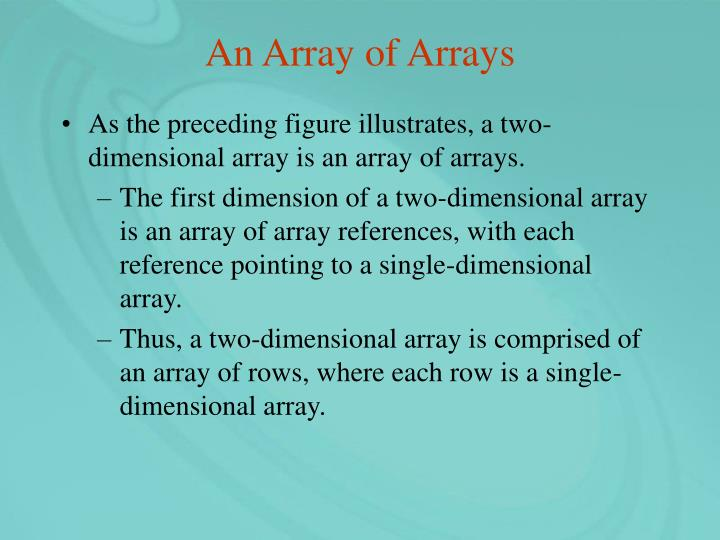 An Array of Arrays