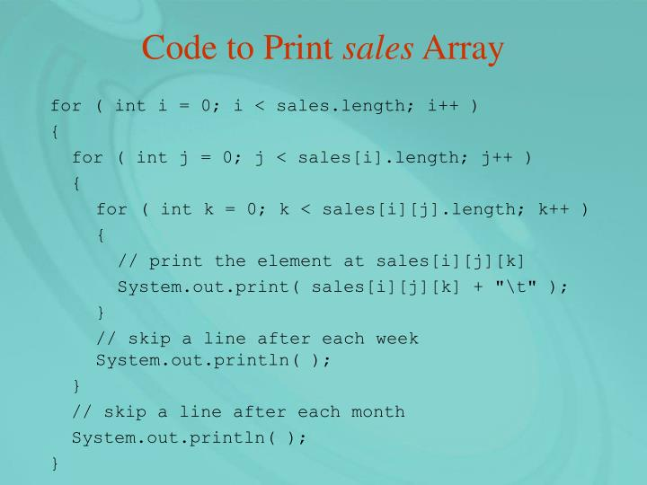 Code to Print