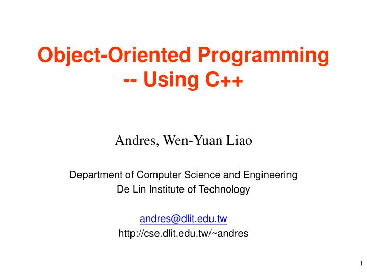 Object oriented programming using c