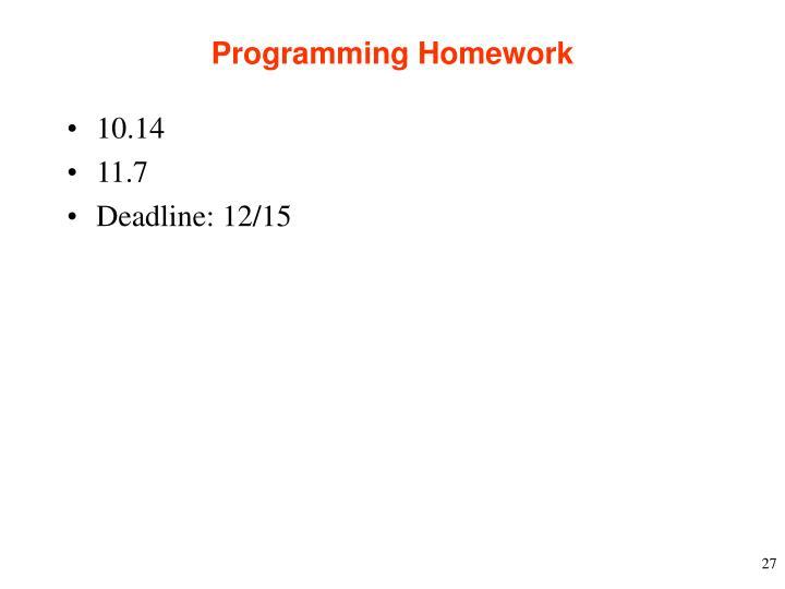 Programming Homework