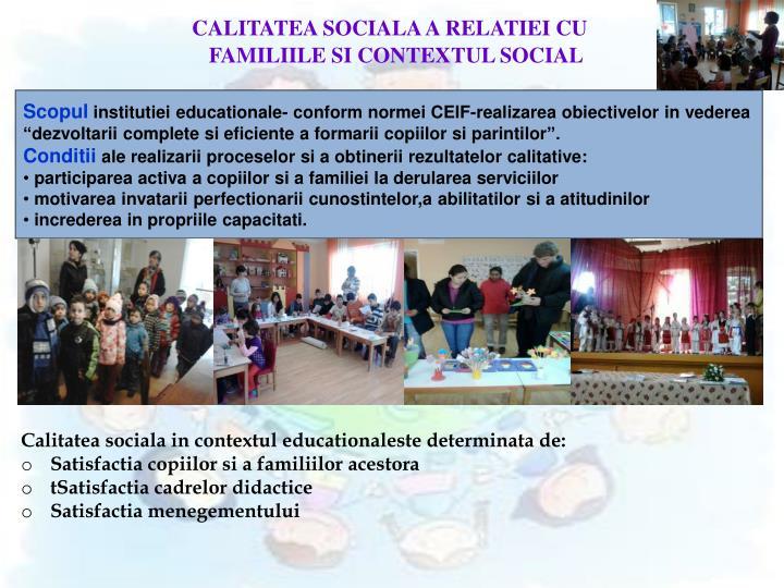 CALITATEA