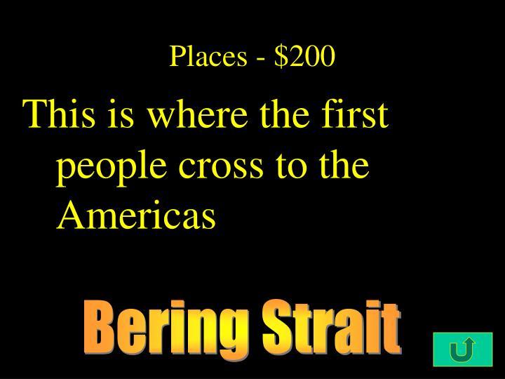 Places - $200