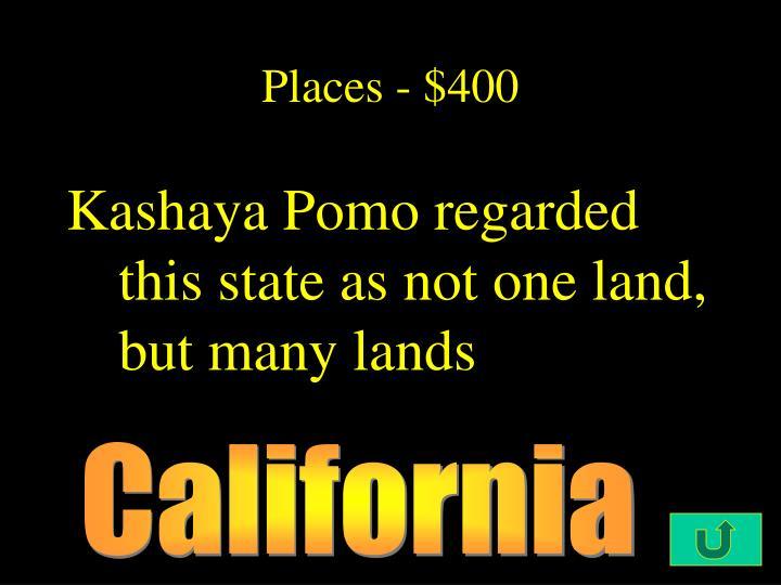 Places - $400