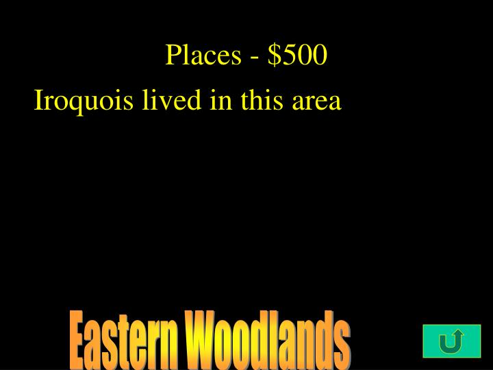 Places - $500
