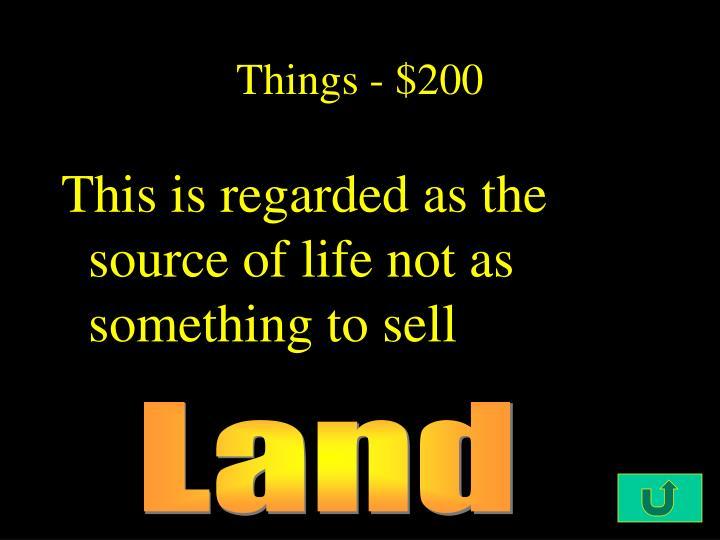 Things - $200