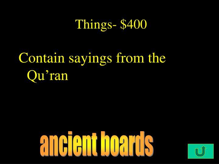Things- $400