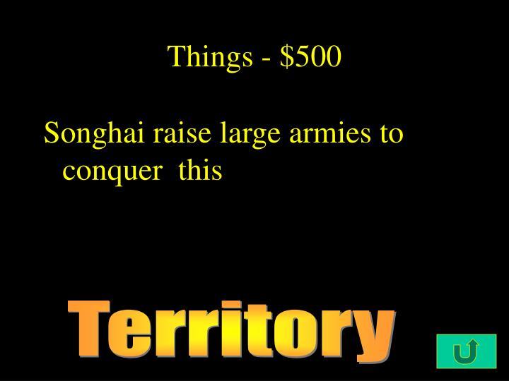 Things - $500