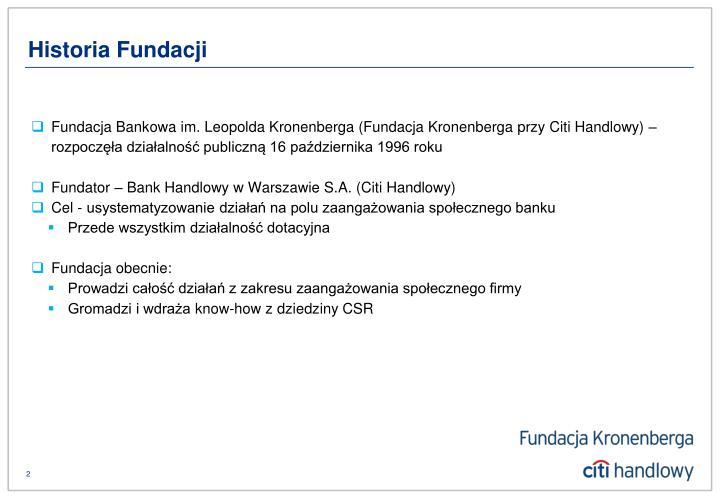 Historia Fundacji