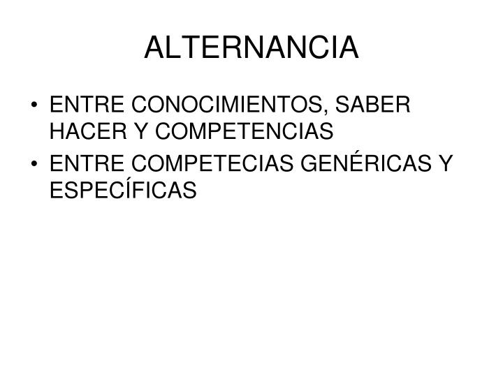 ALTERNANCIA